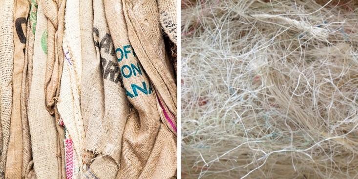 b00334001d9 Derotex recycleert jutezakken tot vezels - Detail - Vlaanderen Circulair